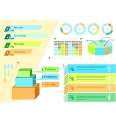 Infographic Set Flat Design Business vector image vector image