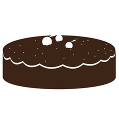 Isolated cake silhouette vector