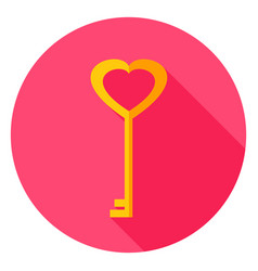 Love key circle icon vector