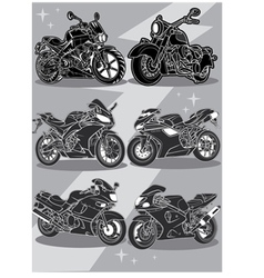 Motorcycles vector image vector image