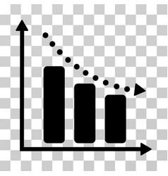 Negative trend icon vector