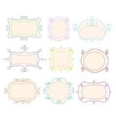 Outline Frames Emblems Mono Line Graphic vector image