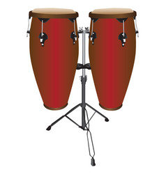 Pair of conga drums vector