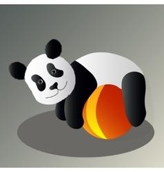 Panda drunk vector