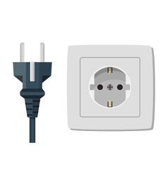Plastic socket isolated on white vector