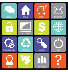 Social media icons square vector image vector image