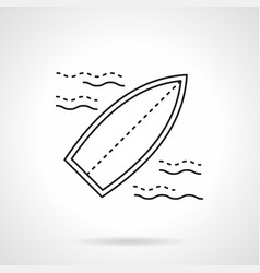 surfing flat line icon vector image