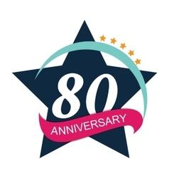 Template Logo 80 Anniversary vector image vector image