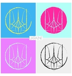 Ukraine symbol peace sign vector