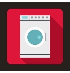 Washing machine icon flat style vector