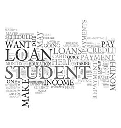 What to do when a student loan is subject to vector
