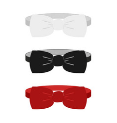 white black and red vector image