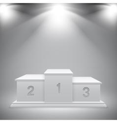 White sport podium of winners vector