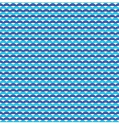 Blue ocean waves marine seamless pattern vector