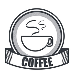 Coffee shop store cover vector