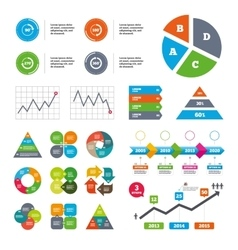 Angle degrees circle icons geometry math signs vector
