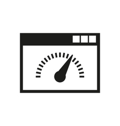 Speed internet test icon design symbol vector image