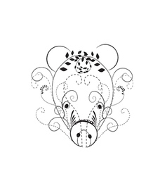 Decorative pig vector image