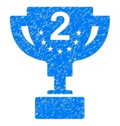 Second prize cup grainy texture icon vector