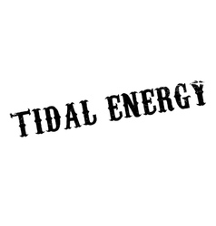 Tidal energy rubber stamp vector