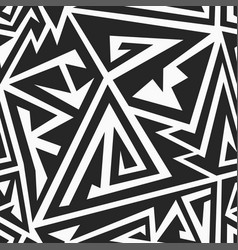 Monochrome maze seamless pattern vector