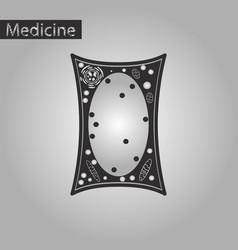 black and white style icon of plant cell vector image