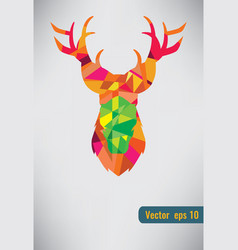 Deer triangle stag low design low poly vector