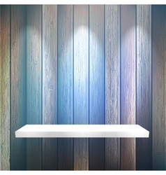Isolated empty shelf for exhibit on wood  eps10 vector