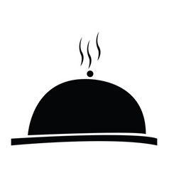 isolated cloche silhouette vector image