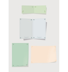 Collection of color paper for record vector