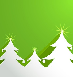 Paper abstract background with christmas tree vector