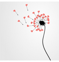 Love dandelion vector