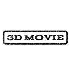 3d movie watermark stamp vector