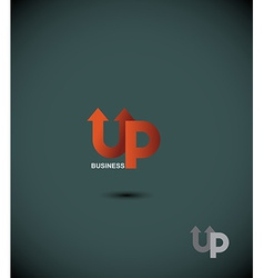 Logo business up up arrow the eminence concept vector