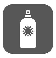 The sun cream icon sunscreen symbol flat vector