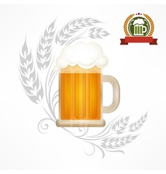 Glass mug of beer vector