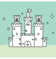 Hand drawn doodle medium castle vector