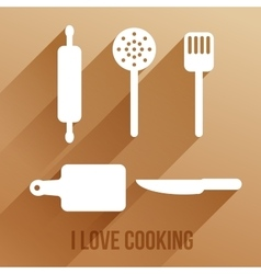 With cooking items vector