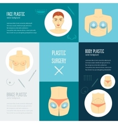Plastic surgery concept flat design vector