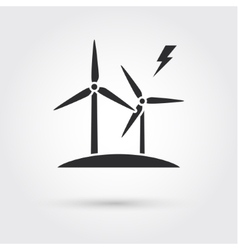 Windmills for electric power production vector