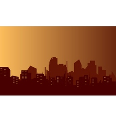 Silhouette of lined flats vector image
