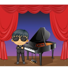 A piano with a pianist vector image
