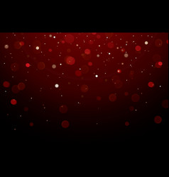 Abstract bokeh light on dark background vector