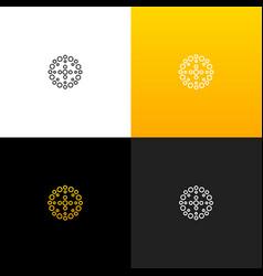 Abstract circle with dots logo linear dots logo vector