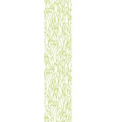 Abstract swirls texture vertical border seamless vector