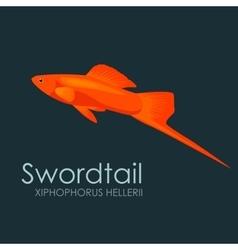 Aquarium fish swordtail vector image vector image