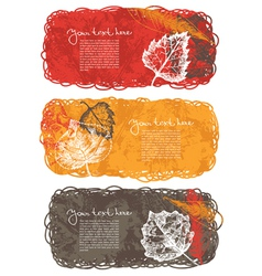 Autumn banners with leafs vector image vector image