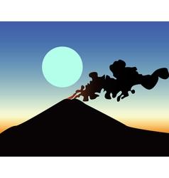 Awakened volcano vector