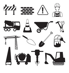 Construction and industry icons vector