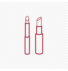 Cosmetic lipstick line icon vector